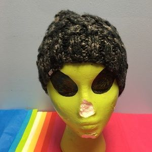 VANS ☃️ Black & Gray Fleck Quilted BEANIE HAT ❄️